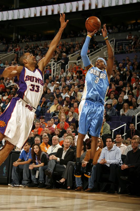 Allen Iverson with a contested jumper.