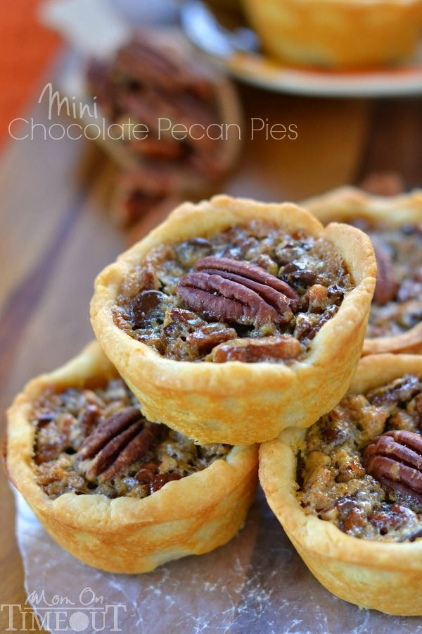 Mini Chocolate Pecan Pies - Mom On Timeout