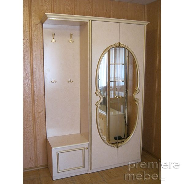 Прихожая «Карина» 2-х дверным шкафом и однодверной тумбой 3С