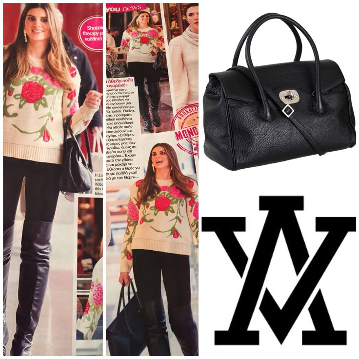 Stamatina Tsimtsili and her VENEZIA bag by ADELE VIVIAN