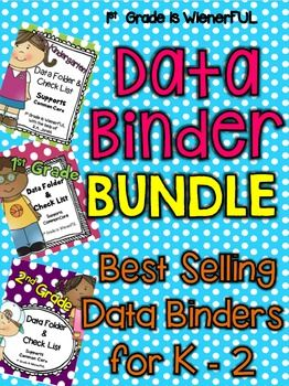 Now, my BEST SELLING Data Binders/Folders are in ONE BUNDLE!Some pages are editable in each binder! :o)This bundle includes:-Data Binder/Folder for Kindergarten-Data Binder/Folder for First Grade-Data Binder/Folder for Second GradeEach data binder SUPPORTS Common Core!Each data binder has a check list with Common Core that is grade specific.Each has assessment tools, graphs, and goal setting charts.This BUNDLE is great for teachers that teach multilevel grades k-2.Instead of buying all…