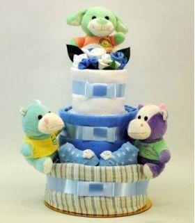 Newborn nursery friends boy 3 layer nappy cake, nappy cakes | baby nappy cakes | nappy cakes sydney | nappy cakes australia | nappy cakes melbourne | nappy cakes brisbane | baby shower nappy cakes | Diaper cakes sydney | Diaper cakes australia