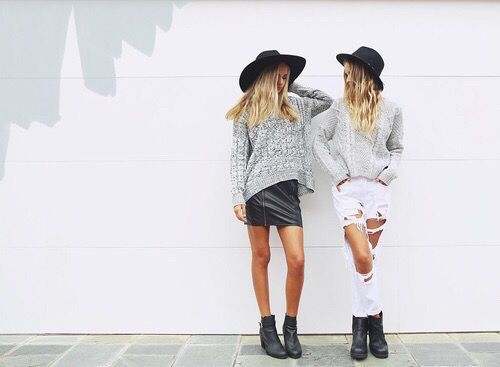 best, best friends, bestie, besties, black, blond, blondie, city, cool, fashion, friends, friendship, girl, girls, grunge, hair, hat, hipster, jeans, outfit, pale, street, style, summer, sweater, tan, tanned, white