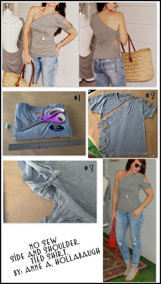 Seite und Schulter gebundenes Hemd #gebundenes #schulter #seite,