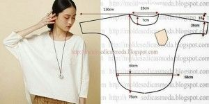 BLOUSE EASY TO CUT relaxed. http://moldesdicasmoda.com/