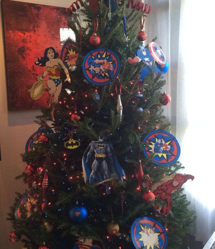 Superheroes christmas tree sara lydia 2014 superheroes - Fotos de arboles de navidad decorados ...
