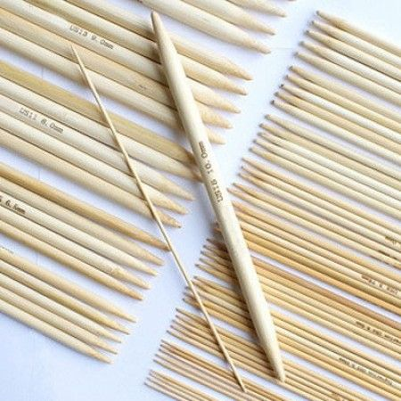 Strømpepinnesett i Bambus – 15 størrelser  Tilbehør