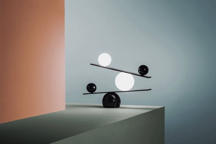 Balance Table Lamp, An Elegant Yet Playful Statement Lighting Piece That Appears Impossible
