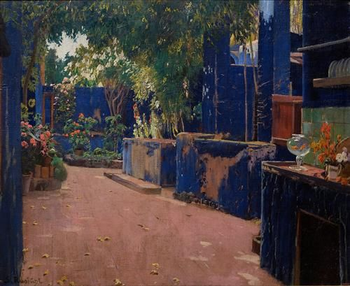 Blue Courtyard, Arenys de Munt - Santiago Rusinol