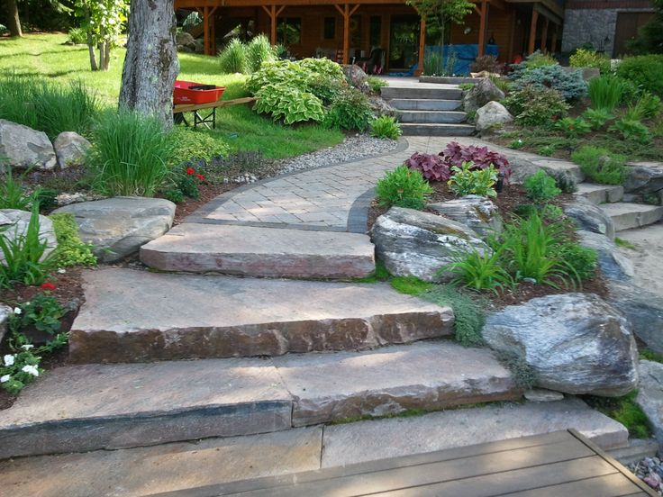 ... Good Earth Landscaping's specialty. See more. From dock to granite  steps and interlock to beach, this pathway has all the challenges - 22 Best Good Earth Landscaping Images On Pinterest Granite