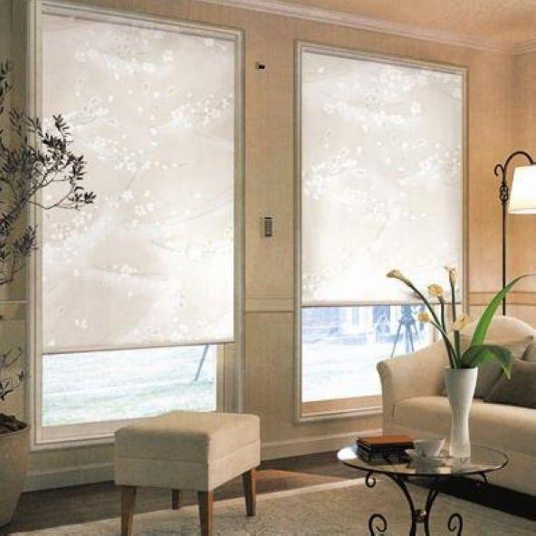Translucent Sun Screen Roller Blinds In White 35 Polyester 65 Pvc Window Curtain For Kitchen Balcony Cortinas Ventana Cortinas Ventanas De Cocina