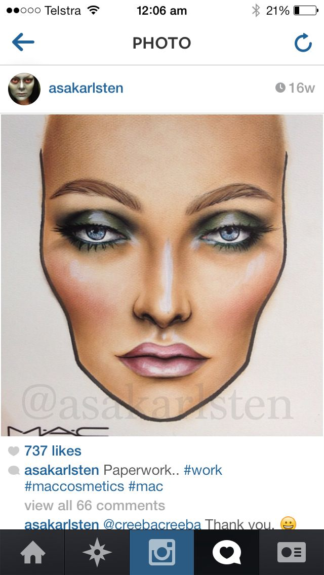 Face charting with mac!