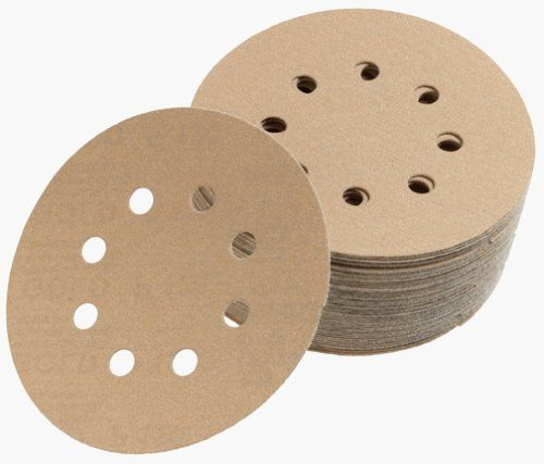 Mirka 23-615-AP Gold 5-Inch 8-Hole Dustless Hook-and-Loop Sanding Disks, 10 Each of 5 Grits by Mirka. $17.50. Amazon.com                All sandpaper is not created equal. As a result, we love Mirka paper. The backing is beefier than other papers, and to us, that means quality. Aluminum oxide grain is the choice of most woodworkers because it's sharp, durable and, best of all, long-lasting on the higher paper grades that won't shred on the edges. This assortment ...