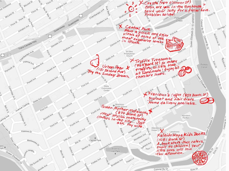 Some cool stuff to do in the #Glebe. Makes for a nice fall afternoon in one of Ottawa's most recognized neighbourhoods. Glebe map