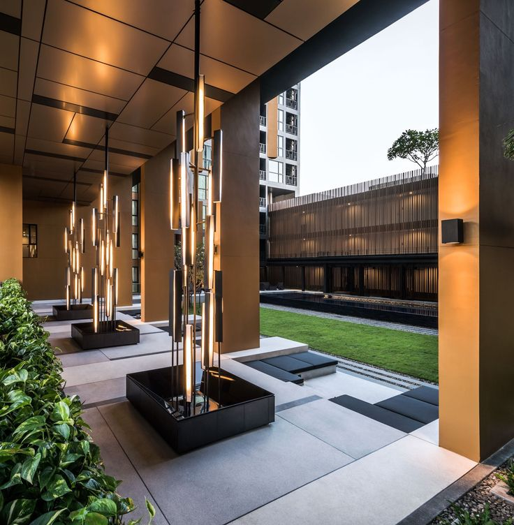 Light sculptures the height phuket condominium by sansiri for Interior landscape design