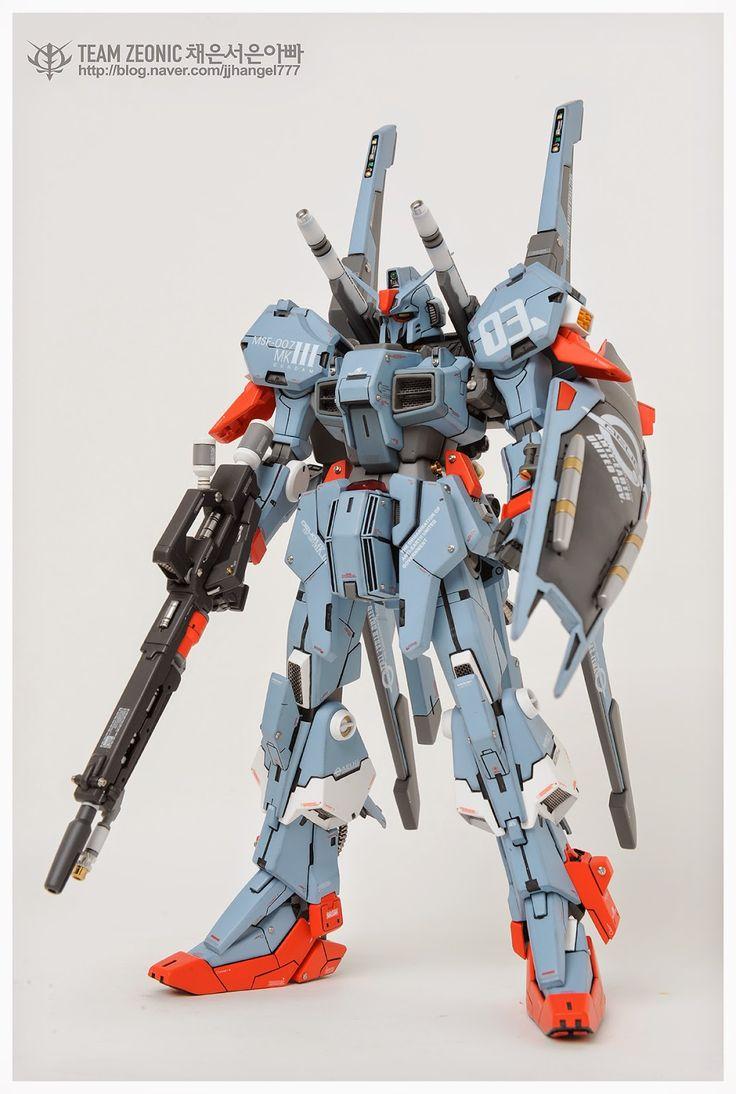 GUNDAM GUY: RE/100 MSF-007 Gundam Mk-III - Customized Build