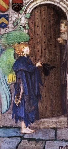 Eleanor Fortescue-Brickdale (1872 - 1945) Angel at the door.