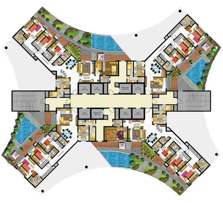 K Pok House Sute Architect: Indiabulls Sky Floor Plans - Mumbai, India
