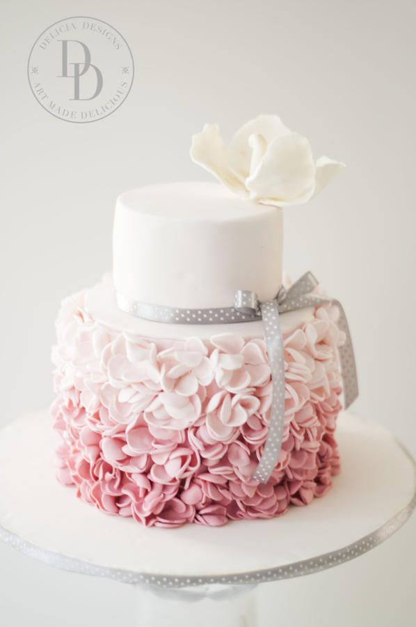 Blush Petal Ruffles by Delicia Designs