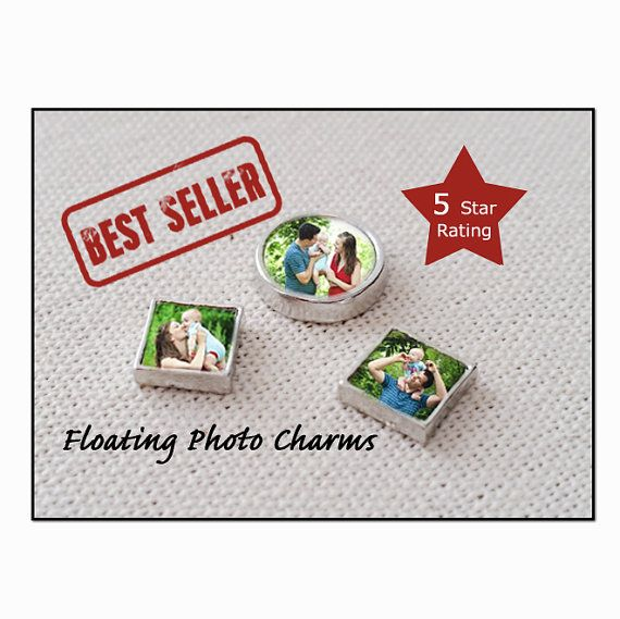 Floating Charm /Floating Locket Charm / Floating Photo Charms for magnetic locket necklace /Personalized / Pics2Jewels / Valentines Day Gift