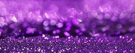 stock photo of purple glow - purple glitter bokeh texture abstract background banner - JPG