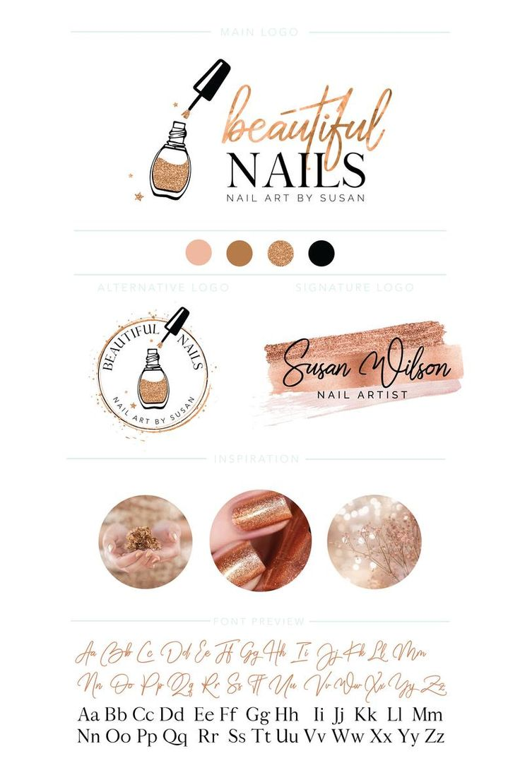Nail Gel Art Logo Branding Kit Nail Art Logo Nail