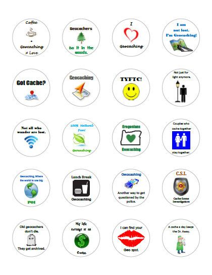 20 Geocaching Swag Stickers  Assorted Geocaching by LierielsLove, $2.49