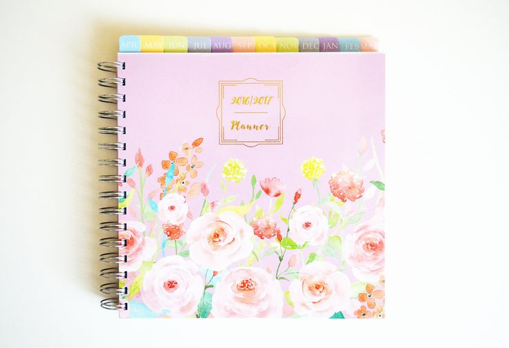 Planner 2016/2017 - Weekly Planner - 2016 Diary - Gift - Large Planner - Gift for friend - Student Planner by SimplyNotebooks on Etsy