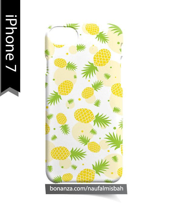 Pineapple Yellow Pattern iPhone 7 Case Cover Wrap Around