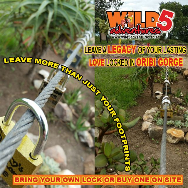 #Lock in the memory of the time you had at @wild5adventures Make a #wish as you throw the key into the #OribiGorge
