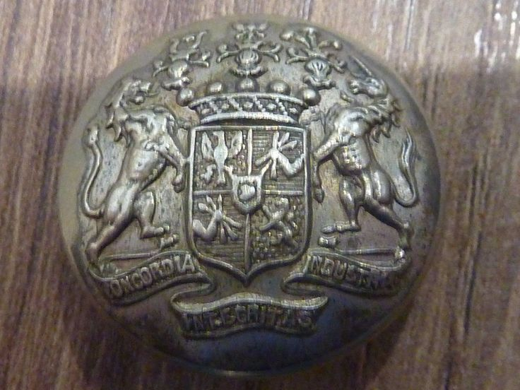 Antique silver plate livery button for the well known very wealthy Rothschild family.