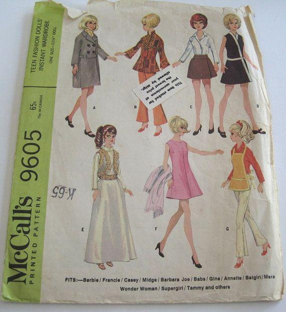 290 besten Barbie Patterns - McCall\'s Bilder auf Pinterest   Barbie ...