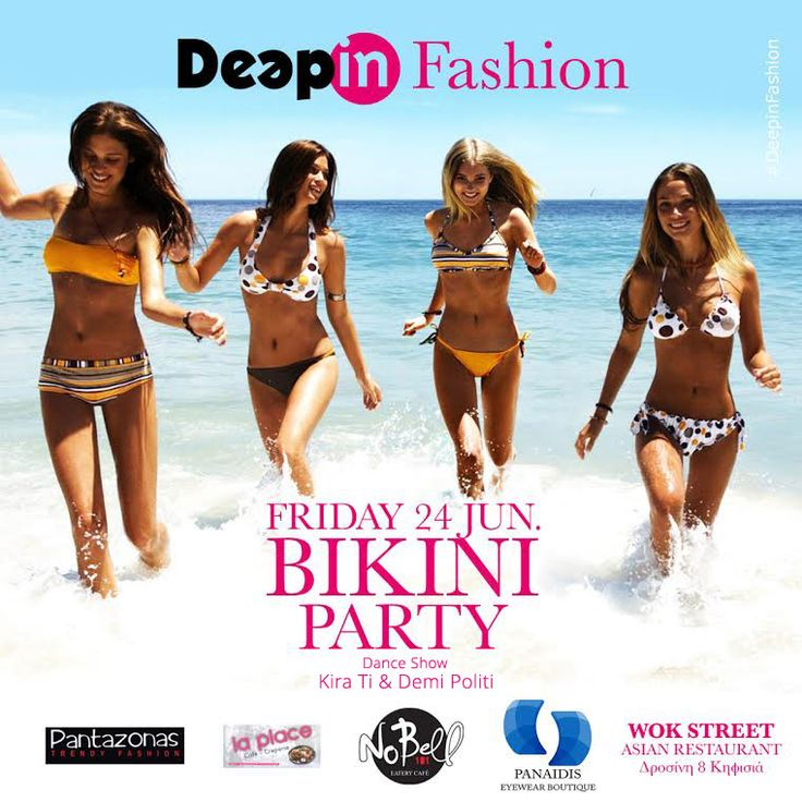 It's Bikini Party time! #Pantazonas #DeepinFashion #BikiniParty