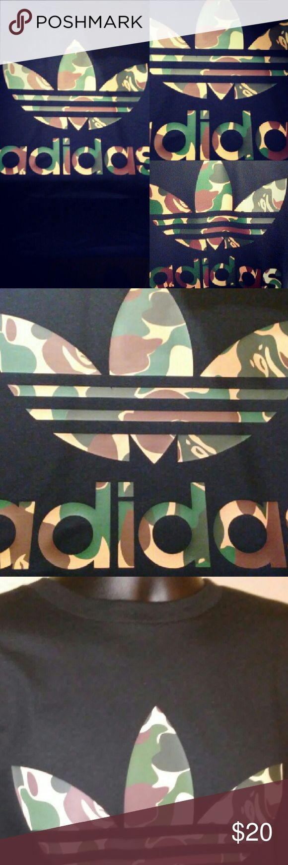 Custom adidas t shirt Size mens  New without tags Custom 100% cotton No shipping sundays   Tags: bape, supreme, ovo, custom tees, adidas, nike, custom sneakers, camo, bape camo, anvil Shirts Tees - Short Sleeve
