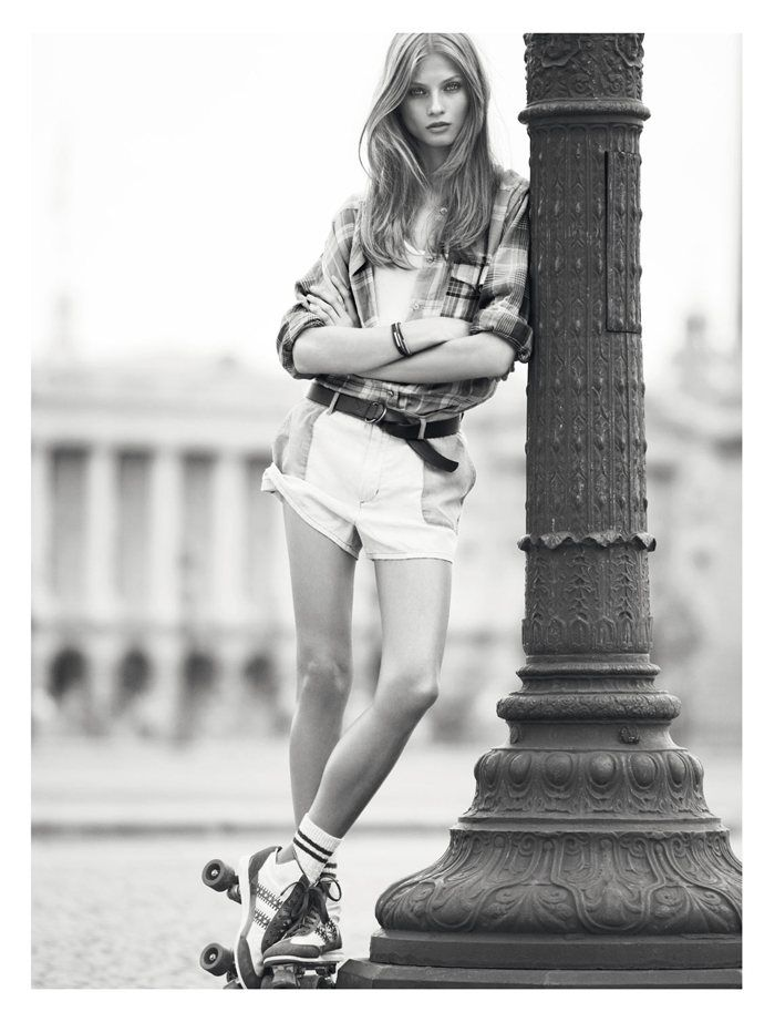"Rolling into Spring   Anna Selezneva   Karim Sadli  #photography   Isabel Marant Spring 2012 ""Etoile"" Catalogue #AJE #AJETHELABEL #SUMMER #STYLE #FASHION #DESIGN #INSPIRATION #DETAIL #STREETSTYLE #EDITORIAL #PARIS #CAMPAIGN #PFW #NYFW"