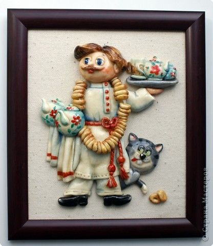 Картина панно рисунок День рождения Новый год Рождество Лепка Роспись Маленикие картины на кухню Акварель Гуашь Тесто соленое фото 7