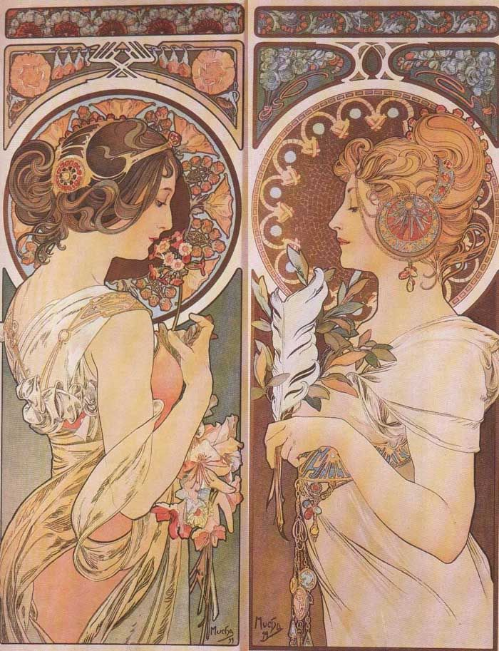 Mucha. What does the juxtaposition mean, do you suppose?