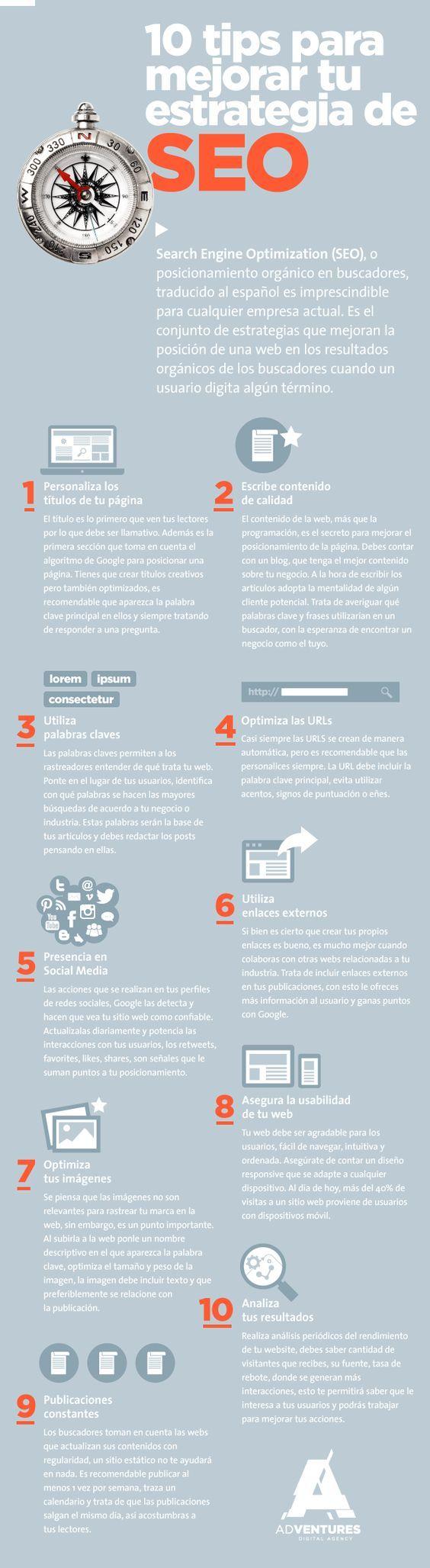 10 consejos para mejorar tu estrategia SEO [Infografía] | TreceBits