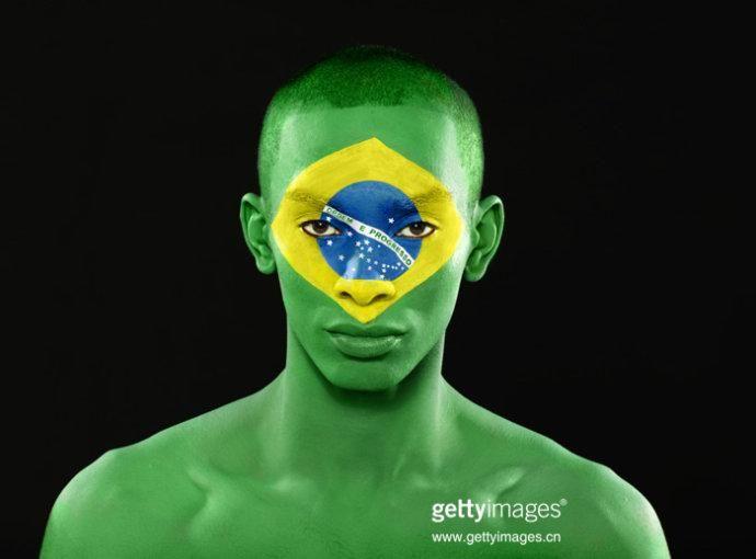 Brazil Flag Painted on Face #Flag #Face #Paint #Brasil #Brazil