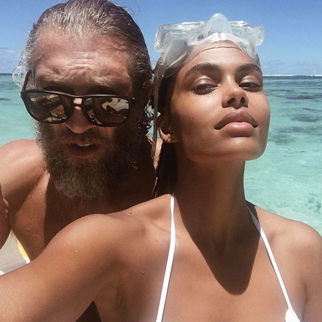 Paul Gauguin and I. Actor Vincent Cassel and girlfriend Model Tina Kunakey.