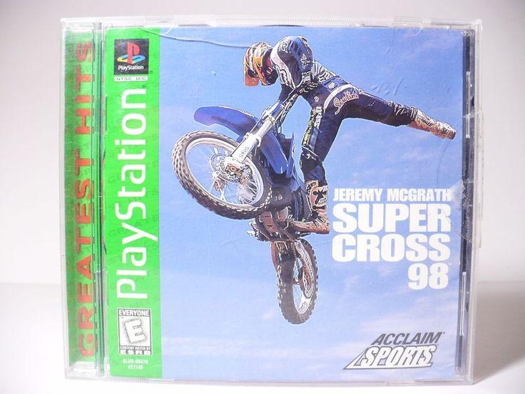 SUPERCROSS 98 Jeremy McGrath PLAYSTATION 1 Dirt Bike Game