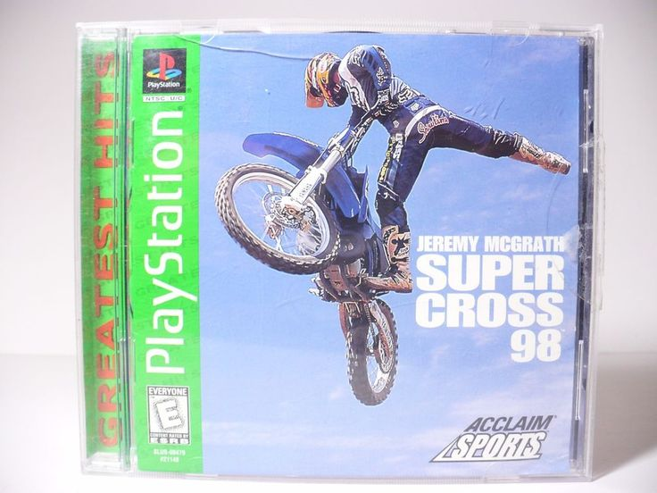 SUPERCROSS 98 Jeremy McGrath  PLAYSTATION 1 Dirt Bike Game Greatest Hits Label