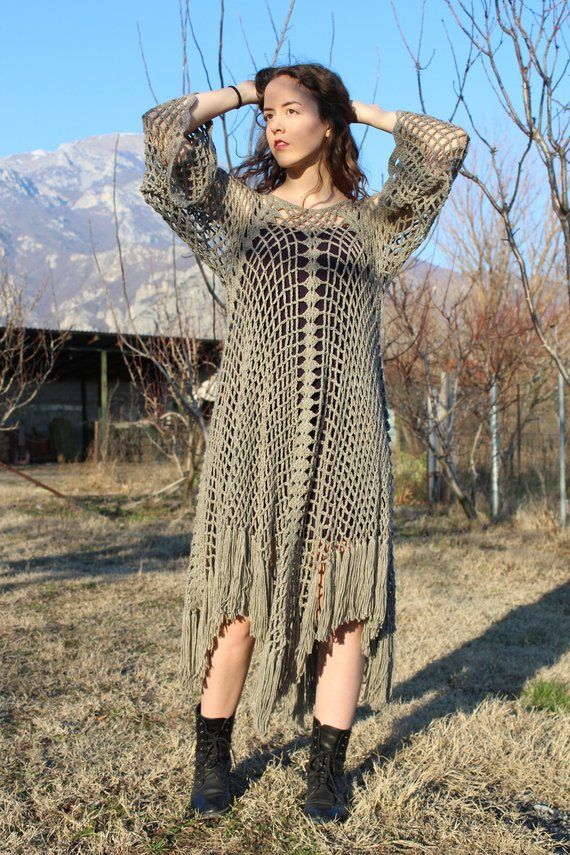 Knitted Dress Poncho Style,Knitted Poncho,Boho Style,Poncho,Women ...