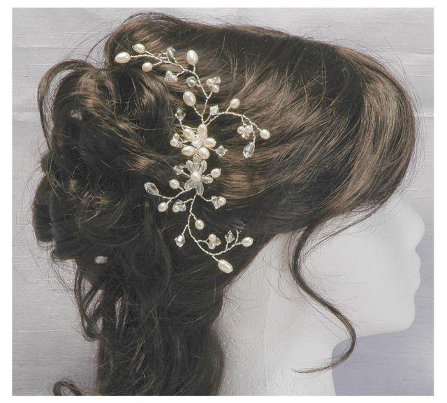Freshwater Pearl & Crystal Bridal Hair Comb Vine - Wedding Hair Accessory | eBay