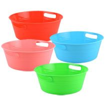 Centerpiece to hold supplies: Bulk Round Plastic Storage Tubs with Handles at DollarTree.com