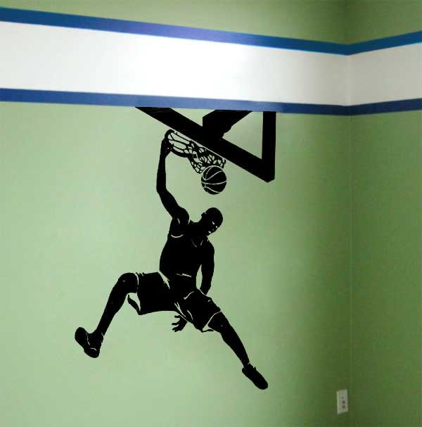 Basketball sl1013 wall decals and mural wall stickers for Basketball mural wallpaper