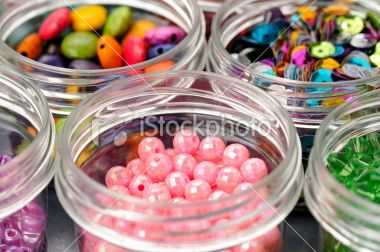 Colorful Beads close-up Royalty Free Stock Photo