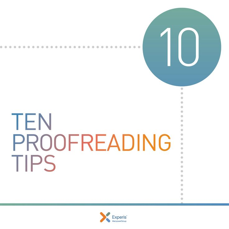 Job Search Tips   Your Top 10 Proofreading Tips. Good To Know Before You  Send