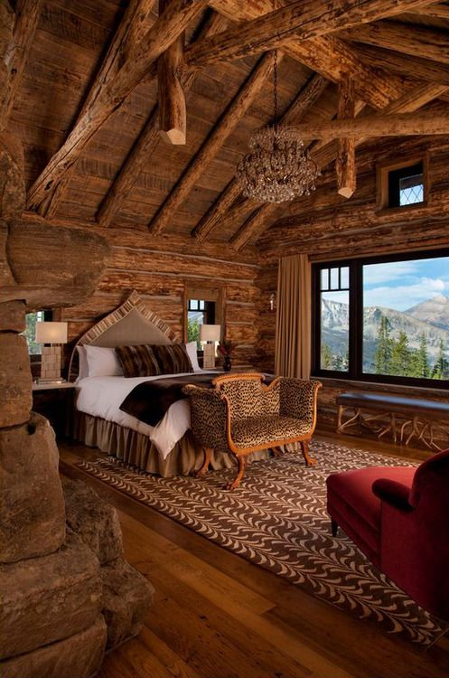 Log House, Big Sky, Montana photo via jennifer - Blue Pueblo