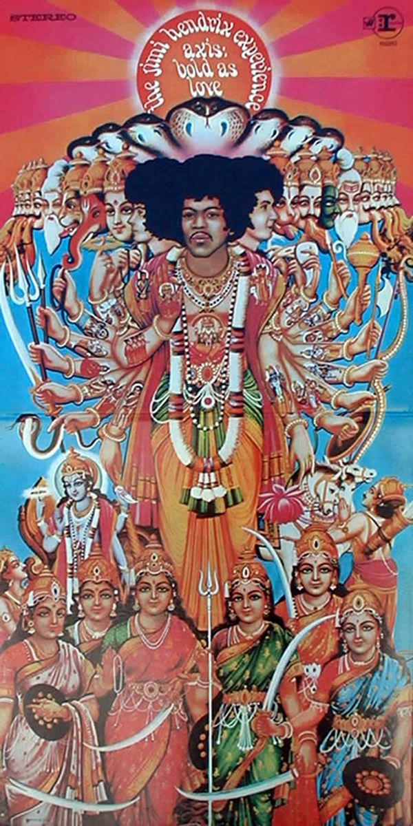 The Jimi Hendrix Experience - Axis: Bold As Love (Track / Reprise, 1967).  Full version of album cover.